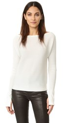 Barbara Bui Crew Neck Top Off White