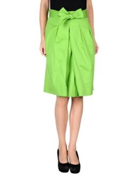 Antonio Fusco Knee Length Skirts Acid Green