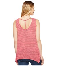 B Collection By Bobeau Montana Scoop Neck Tank Top Raspberry Stripe Women's Sleeveless Pink