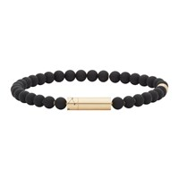 Le Gramme Ssense Exclusive Black And Gold Beaded Bracelet