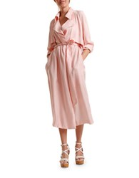 Tba Maxi Trench Coat Light Pink