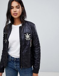 Polo Ralph Lauren Down Padded Jacket With Patch Detail Black