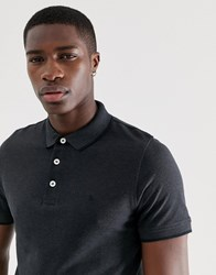 Jack And Jones Essentials Tipped Polo With Chest Logo Grey