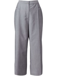 Alexander Wang Wide Leg Cropped Trousers Grey