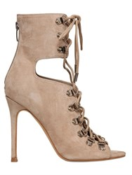 Kendall Kylie 100Mm Suede Lace Up Ankle Boots