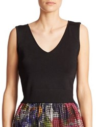 Phoebe Couture Knit Cut Out Top Black