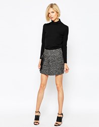 By Zoe By Zoe Jasmin Skirt In Wool Mix Glitch