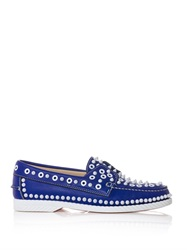 Christian Louboutin Yacht Spiked Leather Boat Shoes