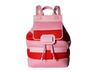 Boutique Moschino Mesh Backpack Red Pink Backpack Bags