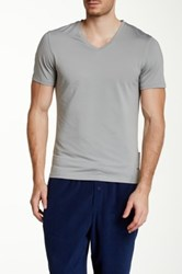 Naked V Neck Tee Gray