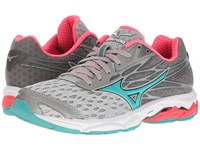 Mizuno Wave Catalyst 2 High Rise Turquoise Diva Pink Women's Running Shoes Gray