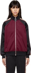Marc Jacobs Burgundy And Black Logo Track Jacket