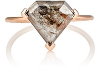 Grace Lee Women's Rustic Diamond Ring No Color