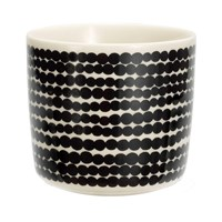 Marimekko Siirtolapuutarha Cup Without Handle White Black