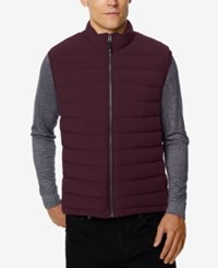 32 Degrees Men's Packable Down Vest Acai Berry