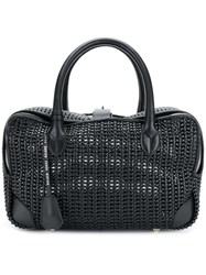 Golden Goose Deluxe Brand Woven Tote Bag Leather Black