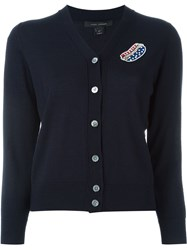 Marc Jacobs Embroidered Classic Cardigan Blue
