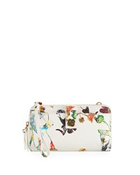Elliott Lucca Theo Large Smartphone Crossbody Bag White Pattern