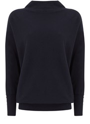 Mint Velvet Navy Batwing Knit Blue