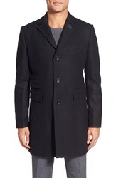 Men's J. Lindeberg 'Wolger' Long Wool Blend Coat
