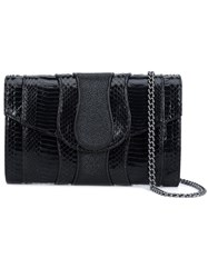 Khirma Eliazov 'Herzog' Clutch Stingray Watersnake Skin Other Fibers Black