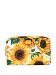 Dolce And Gabbana Sunflower Printed Make Up Bag Yellow
