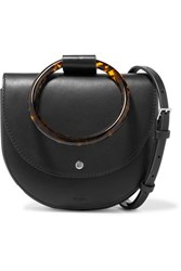 Theory Whitney Small Leather Shoulder Bag Black Gbp