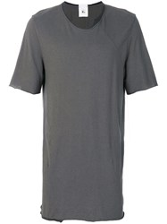 Lost And Found Rooms Piquet T Shirt Cotton Linen Flax Grey