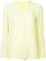 Peter Cohen Open Neck Blouse Green
