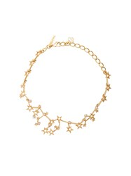 Oscar De La Renta Crystal Constellation Necklace Metallic