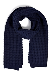 Closed Wool Cashmere Waffle Knit Scarf