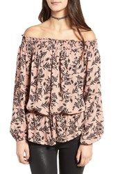 Fire Women's Love Floral Off The Shoulder Top