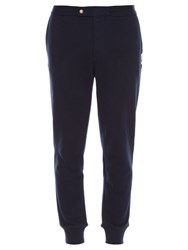 Moncler Gamme Bleu Relaxed Cotton Track Pants Navy Multi