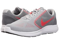 Nike Revolution 3 Wolf Grey Track Red Black Men's Running Shoes Wolf Grey Track Red Black