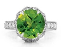 Paolo Costagli Peridot And Diamond 'Pumpkin' Ring Green