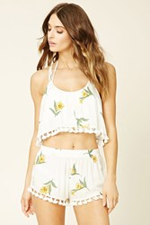 Forever 21 Swim Cover Up Cropped Cami