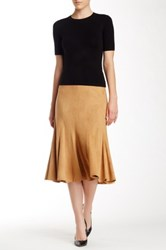 Insight Faux Suede Boot Skirt Brown