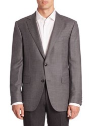 Pal Zileri Virgin Wool Plaid Jacket Light Grey