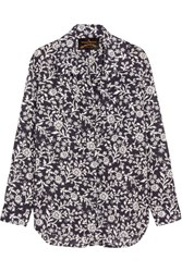 Vivienne Westwood Anglomania Nomad Printed Cotton Voile Shirt Navy