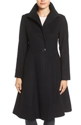 Vera Wang Women's Isabella Skirted Wool Blend Coat