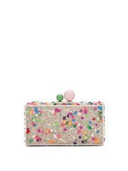 Sophia Webster Clara Crystal Embellished Metal Clutch Multi