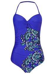 Phase Eight Paisley Swimsuit Blue Multi