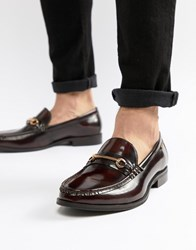 Ben Sherman Luca Loafers In Bordo Leather Red