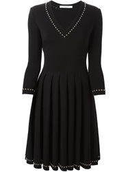 Givenchy Studded Lace Up Dress Black