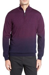 Bugatchi Men's Ombre Quarter Zip Sweater Plum