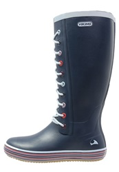 Viking Retro Sprinkle Warm Wellies Navy Dark Blue