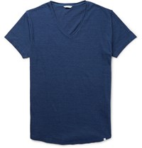 Orlebar Brown Ob V Slim Fit Cotton Jersey T Shirt Navy