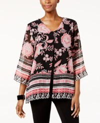 Jm Collection Printed Split Front Tunic Only At Macy's Ethnic Bloom