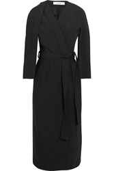 Chalayan Belted Crepe Dress Black