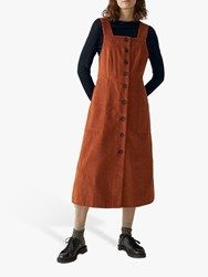 Toast Cord Pinafore Dress Ginger